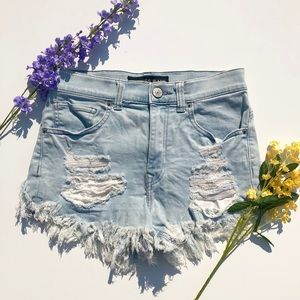 Express Ripped Jean Shorts